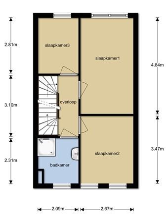 Floorplan - Hoge Witteveld 64, 6942 RD Didam