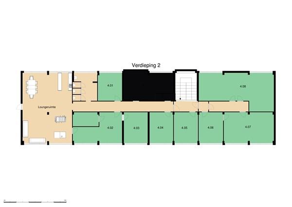 Floorplan - Hoorn 75., 2404 HH Alphen aan den Rijn