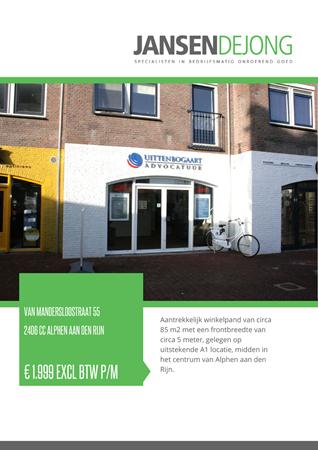 Brochure preview - Van Mandersloostraat 55, 2406 CC ALPHEN AAN DEN RIJN (1)