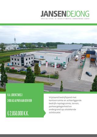 Brochure preview - H.A. Lorentzweg 1, 2408 AS ALPHEN AAN DEN RIJN (1)