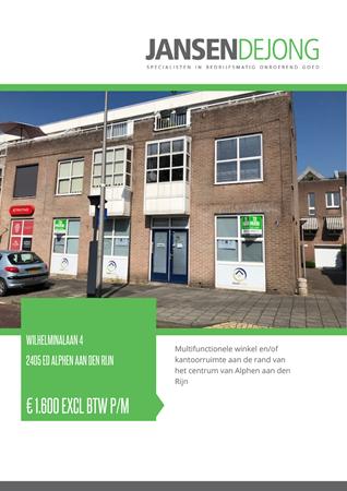 Brochure preview - Wilhelminalaan 4, 2405 ED ALPHEN AAN DEN RIJN (1)