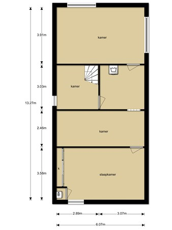 Floorplan - Korte Striep 4, 5845 GE Sint Anthonis