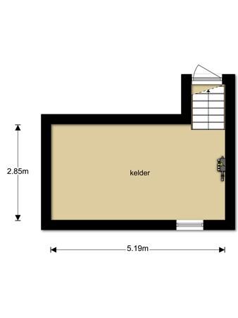 Floorplan - Brouwersstraat 21, 6658 AD Beneden-Leeuwen