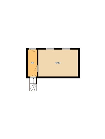 Floorplan - Hoogstraat 4, 4285 AH Woudrichem