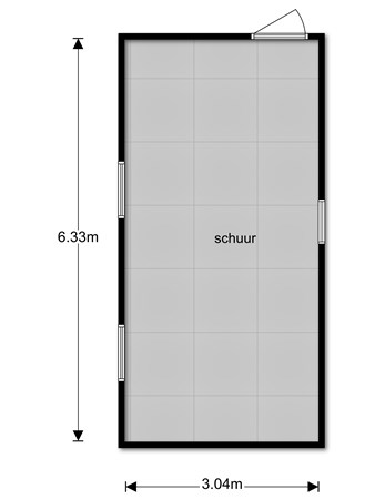 Floorplan - Meikade 4a, 6718 VJ Ede
