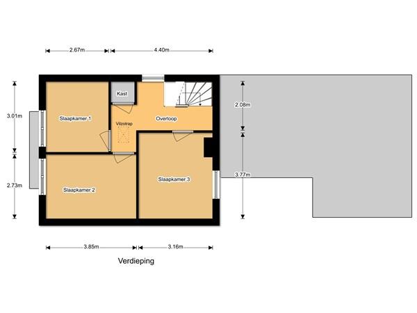 Floorplan - Hoofdweg 44, 6744 WL Ederveen