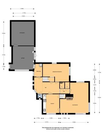 Floorplan - Markstraat 7, 4043 JX Opheusden