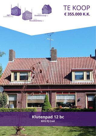Brochure preview - Klutenpad 12-bc, 8312 PJ CREIL (1)