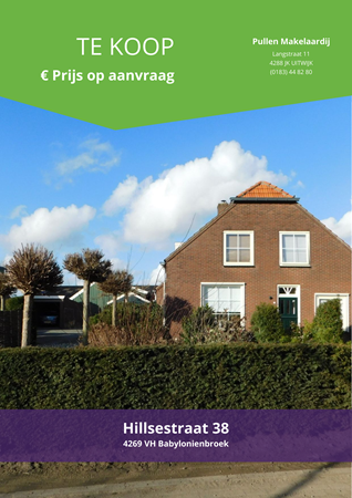 Brochure preview - Hillsestraat 38, 4269 VH BABYLONIENBROEK (1)