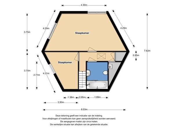 Floorplan - De Roos 13, 1611 KD Bovenkarspel