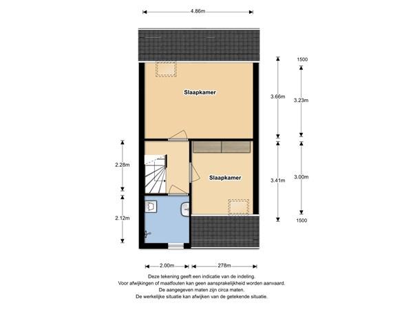 Floorplan - Boterbloem 102, 1689 RJ Zwaag