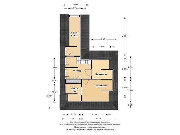 Floorplan - 2e Rozenstraat 2, 1614 SG Lutjebroek
