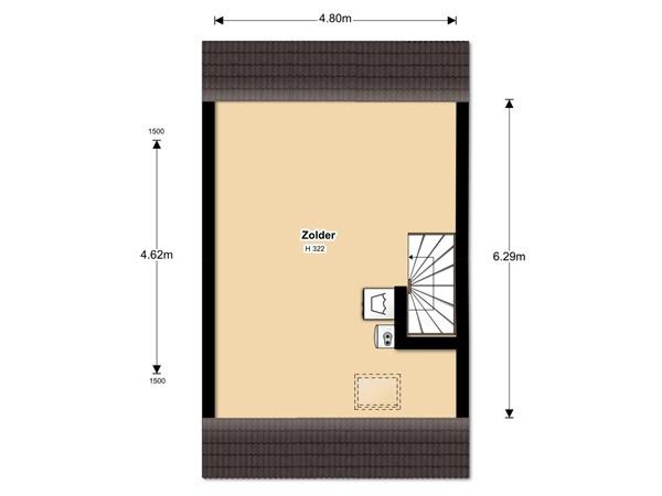 Floorplan - F. Bordewijkstraat 43, 1613 MP Grootebroek