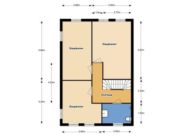 Floorplan - Schoolstraat 13, 1774 AR Slootdorp