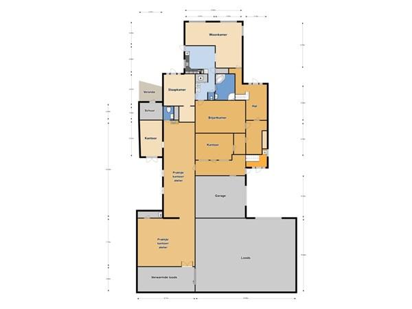 Floorplan - Streekweg 317, 1616 AG Hoogkarspel