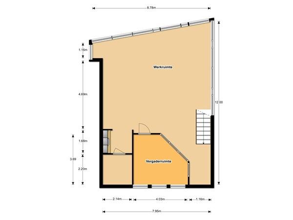 Floorplan - De Trompet 18a, 1601 MK Enkhuizen