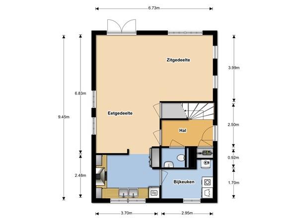 Floorplan - Krokus 32, 1619 BD Andijk