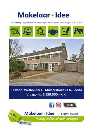 Brochure preview - Woningbrochure Wethouder G. Mulderstraat 23 te Beerta.pdf