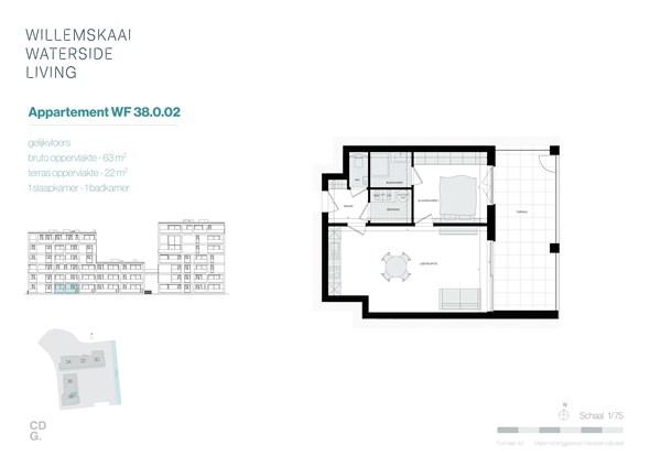 Floorplan - Sint-Barbarastraat 38-0.2 WF, 3630 Maasmechelen