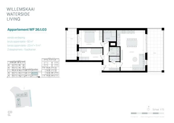 Floorplan - Sint-Barbarastraat 36-1.3 WF, 3630 Maasmechelen