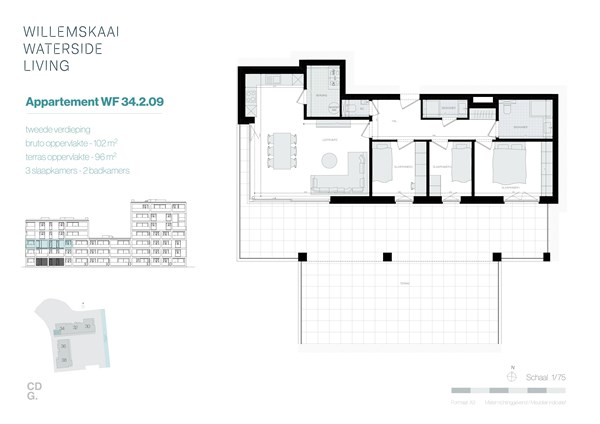 Floorplan - Sint-Barbarastraat 34-2.9 WF, 3630 Maasmechelen