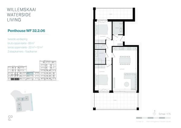 Floorplan - Sint-Barbarastraat 32-2.6 WF, 3630 Maasmechelen
