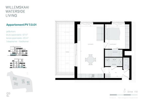 Floorplan - Sint-Barbarastraat 7-0.1 PV, 3630 Maasmechelen