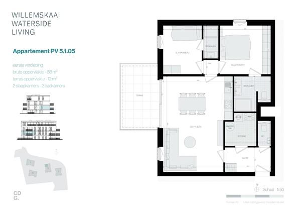 Floorplan - Sint-Barbarastraat 5-1.5 PV, 3630 Maasmechelen