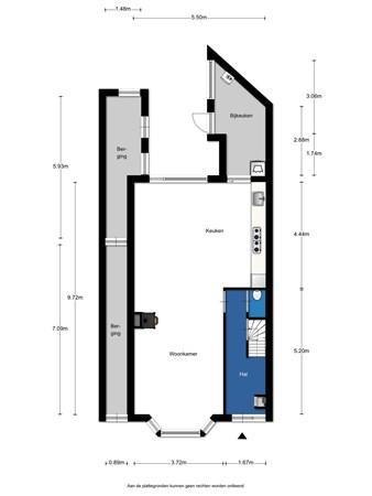 Floorplan - Groningerstraatweg 204, 8921 TX Leeuwarden