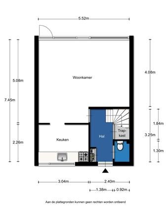Floorplan - Johan Winklerwei 357, 8915 EV Leeuwarden