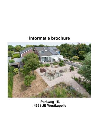 Brochure preview - informatie brochure parkweg 15 westkapelle