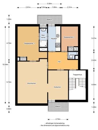 Floorplan - Akeleilaan 51, 2343 VV Oegstgeest