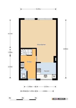 Floorplan - Beekforel 82, 2318 MC Leiden