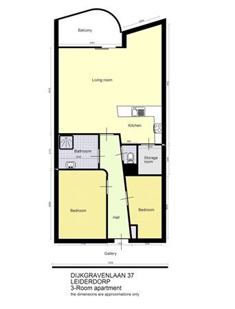 Floorplan - Dijkgravenlaan 37, 2352 RN Leiderdorp