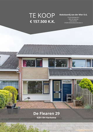 Brochure preview - De Flearen 29, 9281 RH HARKEMA (1)