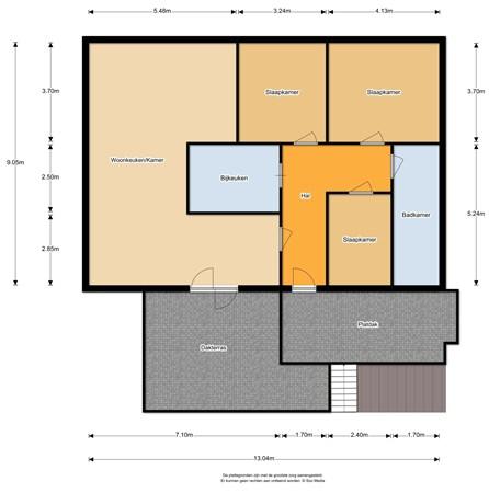 Floorplan - Warmoltsstrjitte 19, 9281 PK Harkema
