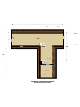 Floorplan - Fokkestaach 4, 8502 BG Joure
