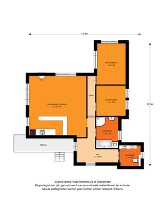 Floorplan - Hoge Bergweg 23, 7361 GS Beekbergen