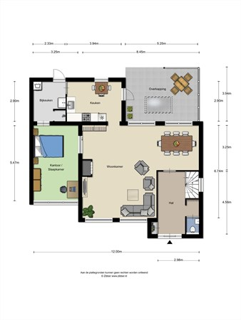 Floorplan - Bisschop van Mierlostraat 106, 5731 GH Mierlo