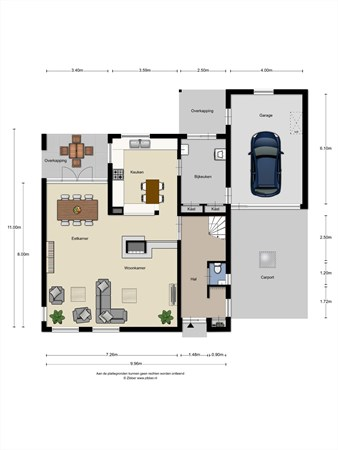 Floorplan - Dalkruid 6, 5731 TM Mierlo