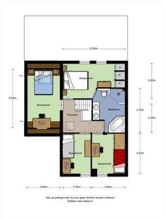 Floorplan - Den Joris 4, 5731 VD Mierlo