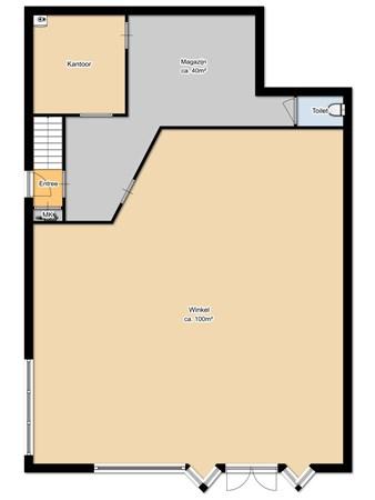 Floorplan - Grindweg 122A & B, 8471 EM Wolvega
