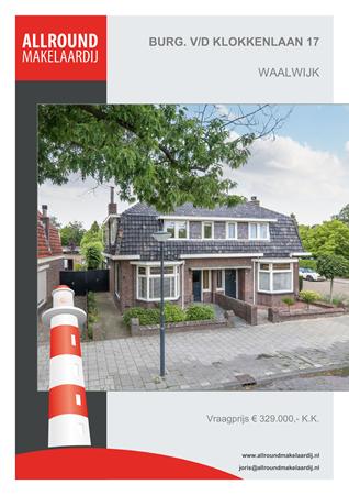 Brochure preview - Burgemeester Van Der Klokkenlaan 17, 5141 EE WAALWIJK (1)