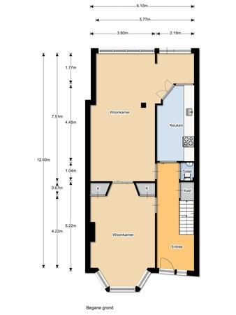 Floorplan - Groenewoudseweg 305, 6524 TX Nijmegen