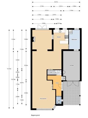 Floorplan - Bredehof 15, 6634 AX Batenburg