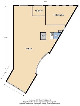 Floorplan - Hogestraat 48, 6651 BM Druten