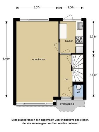 Floorplan - Meidoornstraat 19, 5682 CE Best