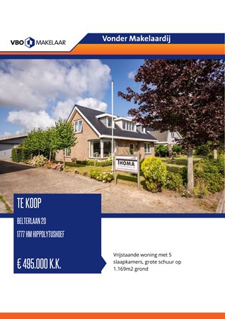 Brochure preview - Belterlaan 20, 1777 HM HIPPOLYTUSHOEF (1)