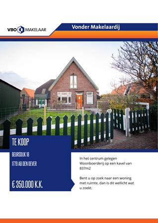 Brochure preview - Beursdijk 18, 1779 AB DEN OEVER (1)