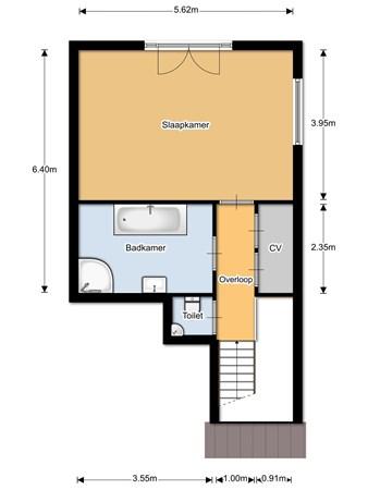 Floorplan - Bovendijk 2-39, 6627 KS Maasbommel